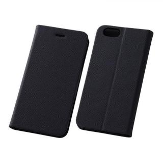 【iPhone6 ケース】スマートレザー手帳型ケース 十字紋ブラック iPhone 6s/6