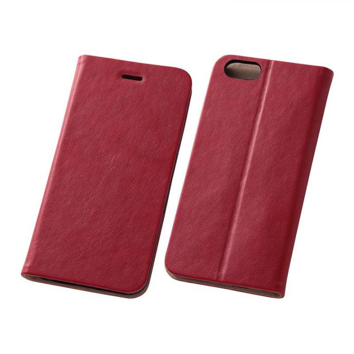 [2017夏フェス特価]スマートレザー手帳型ケース レッド iPhone 6s/6