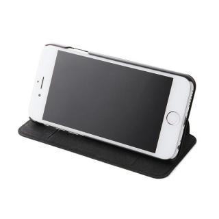 【iPhone6s/6ケース】スタンド機能付きスリム手帳型ケース ブラック iPhone 6s/6_2