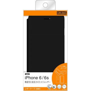 【iPhone6s/6ケース】スタンド機能付きスリム手帳型ケース ブラック iPhone 6s/6_4