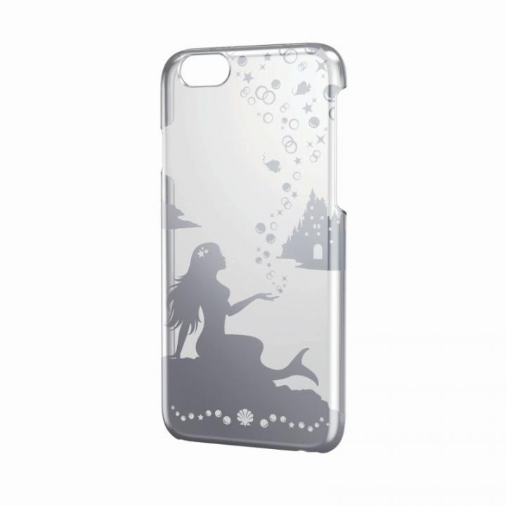 【iPhone6ケース】アートに演出 アップルテクスチャーハードクリアケース シルバー マーメイド iPhone 6ケース_0