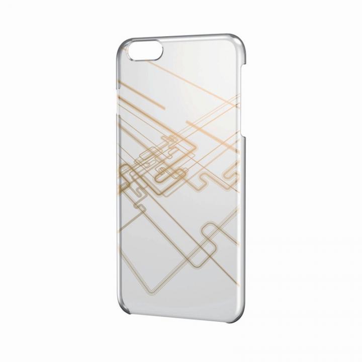 iPhone6 Plus ケース アートに演出 アップルテクスチャーハードケース ライトライン(ゴールド) iPhone 6 Plusケース_0