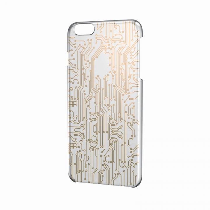 【iPhone6 Plusケース】アートに演出 アップルテクスチャーハードケース サーキット(ゴールド) iPhone 6 Plusケース_0