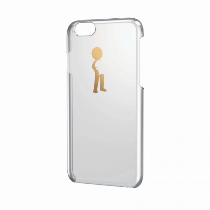 【iPhone6ケース】アートに演出 アップルテクスチャーハードクリアケース ゴールド ハグ iPhone 6ケース_0