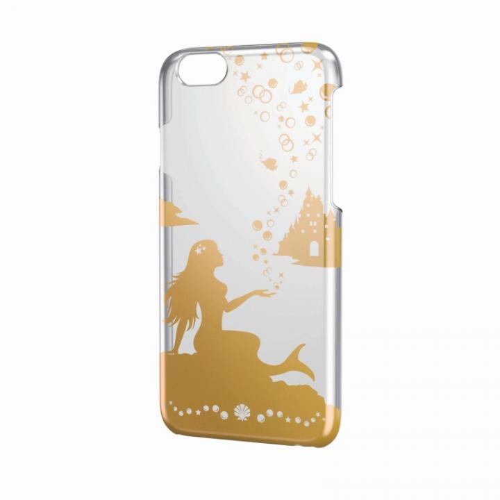 【iPhone6ケース】アートに演出 アップルテクスチャーハードクリアケース ゴールド マーメイド iPhone 6ケース_0