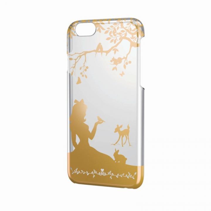 【iPhone6ケース】アートに演出 アップルテクスチャーハードクリアケース ゴールド プリンセス iPhone 6ケース_0