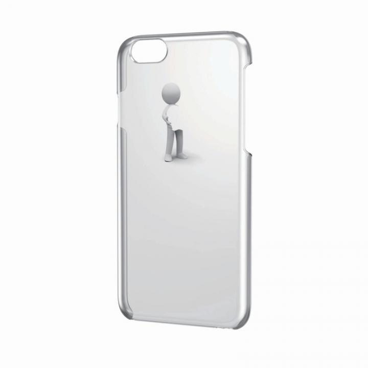 【iPhone6ケース】アートに演出 アップルテクスチャーハードケース 3D ハグ iPhone 6 ケース_0