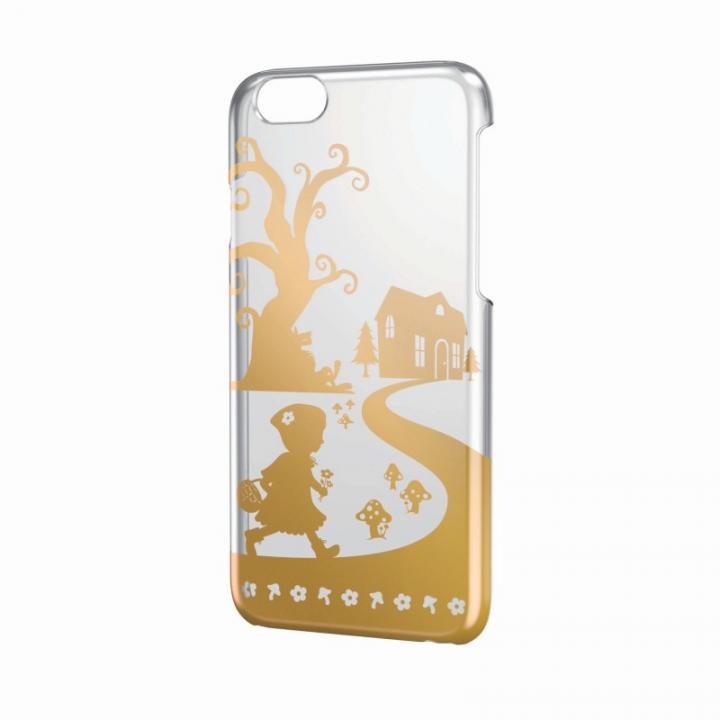 【iPhone6ケース】アートに演出 アップルテクスチャーハードクリアケース ゴールド 赤ずきん iPhone 6ケース_0