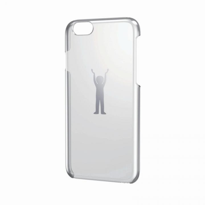 【iPhone6ケース】アートに演出 アップルテクスチャーハードクリアケース シルバー パワー iPhone 6ケース_0