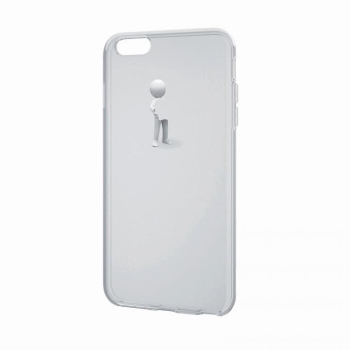【iPhone6 Plusケース】アートに演出 アップルテクスチャーソフトケース 3D ハグ iPhone 6 Plusケース_0