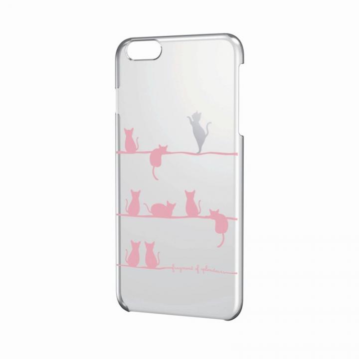 iPhone6 Plus ケース アートに演出 アップルテクスチャーハードケース おねだりネコ iPhone 6 Plusケース_0