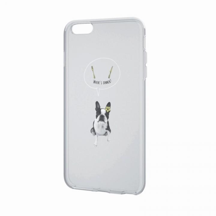 iPhone6 Plus ケース アートに演出 アップルテクスチャーソフトケース ハングリー ドッグ iPhone 6 Plusケース_0