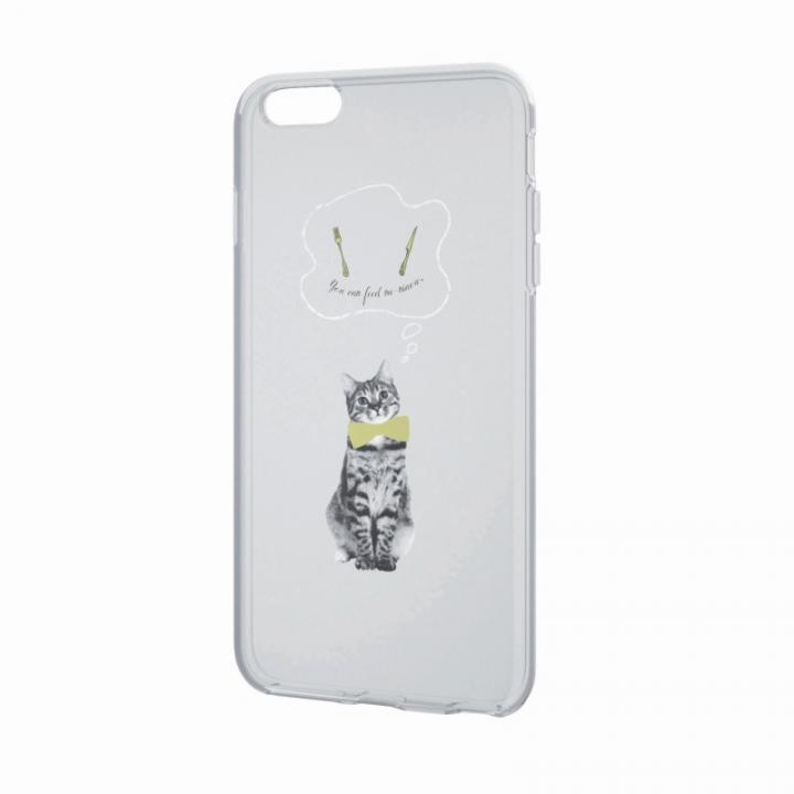 iPhone6 Plus ケース アートに演出 アップルテクスチャーソフトケース ハングリーキャット iPhone 6 Plusケース_0