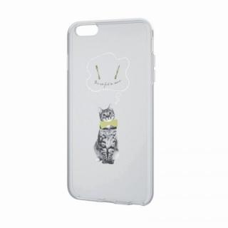 アートに演出 アップルテクスチャーソフトケース ハングリーキャット iPhone 6 Plusケース