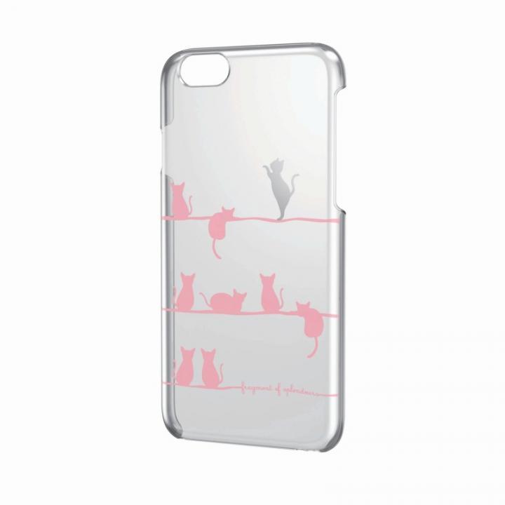 【iPhone6ケース】アートに演出 アップルテクスチャーハードケース おねだりネコ iPhone 6 ケース_0