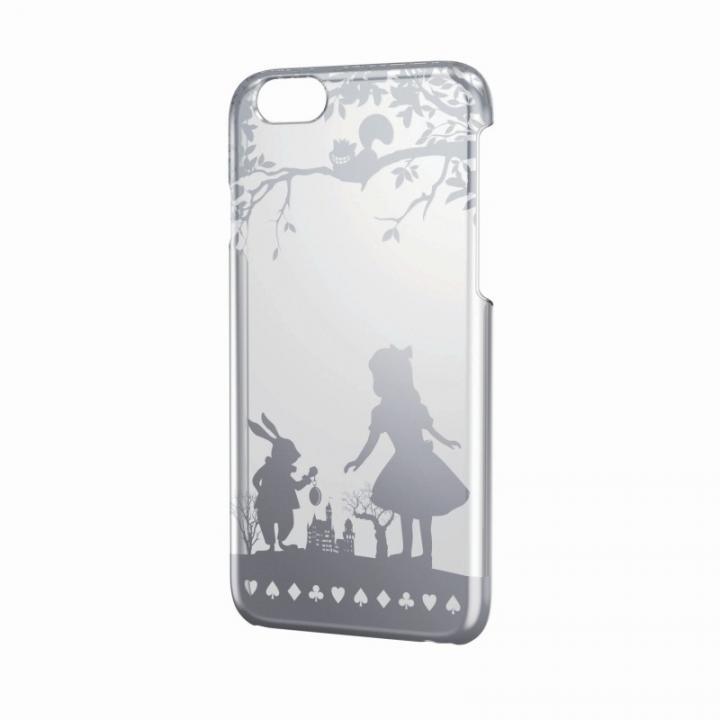 【iPhone6ケース】アップルテクスチャーハードクリアケース シルバー アリス iPhone 6ケース_0