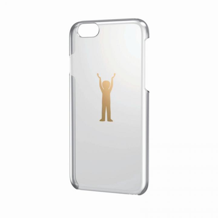 【iPhone6ケース】アップルテクスチャーハードクリアケース ゴールド パワー iPhone 6ケース_0