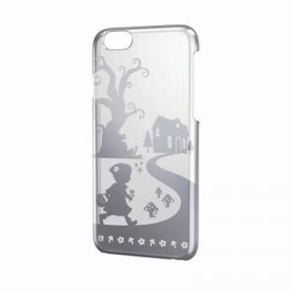 アップルテクスチャーハードクリアケース シルバー 赤ずきん iPhone 6ケース