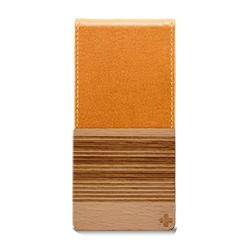 iPhone SE/5s用 バーチカルフリップスタイルケース(オレンジ)