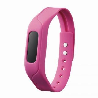 活動量と睡眠状態を管理できる リストバンドタイプ活動量計 ピンク