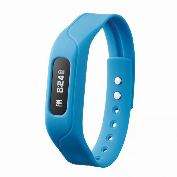 活動量と睡眠状態を管理できる リストバンドタイプ活動量計 ブルー_0