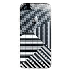 【iPhone SE/5s/5ケース】iPhone SE/5s用 フローティングパターンカバーセット(ミラーストライプ)_0