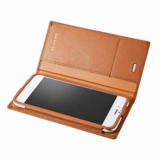 【iPhone6 ケース】GRAMAS フルレザー手帳型ケース タン iPhone 6s/6