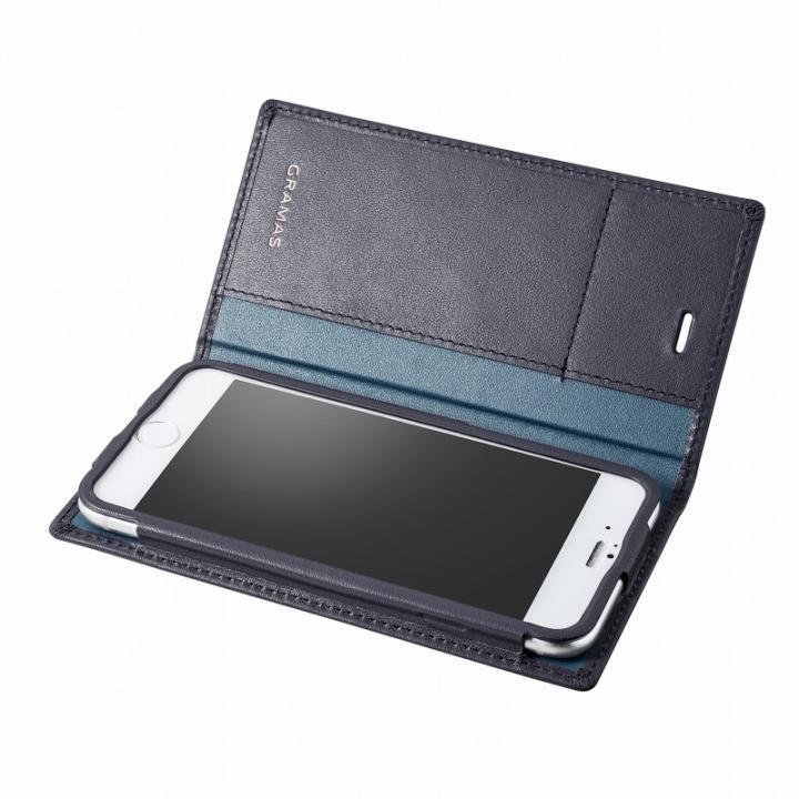 iPhone6s/6 ケース GRAMAS フルレザー手帳型ケース ネイビー iPhone 6s/6_0
