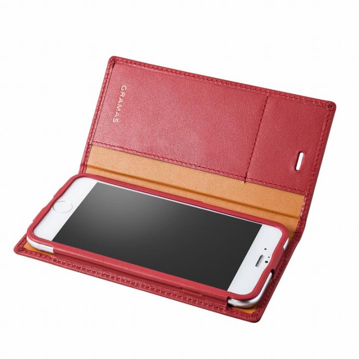 iPhone6s/6 ケース GRAMAS フルレザー手帳型ケース レッド iPhone 6s/6_0