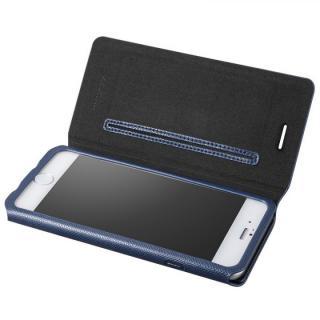 極薄PUレザー手帳型ケース ネイビー iPhone 6ケース