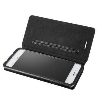 極薄PUレザー手帳型ケース ブラック iPhone 6ケース