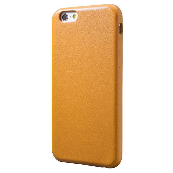 【iPhone6s/6ケース】極薄PUレザーケース イエロー iPhone 6s/6ケース_0