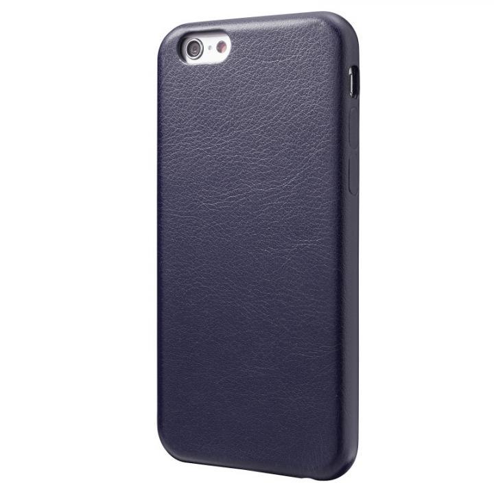 極薄PUレザーケース ネイビー iPhone 6ケース