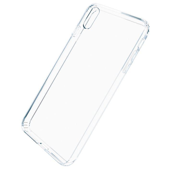 iPhone XS Max ケース A+ 背面強化ガラス×TPUハイブリッドケース Clear Panel Case3 for iPhone XS Max_0