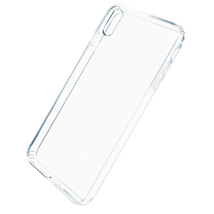 iPhone XS Max ケース A+ 背面強化ガラス×TPUハイブリッドケース Clear Panel Case3 for iPhone XS Max_0