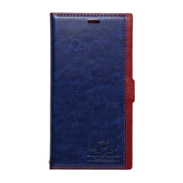 FLAMINGO PUレザー手帳型ケース ブルー iPhone X