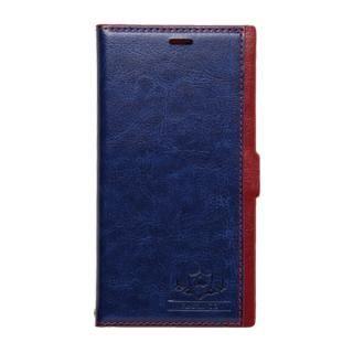 FLAMINGO PUレザー手帳型ケース ブルー iPhone XS/X