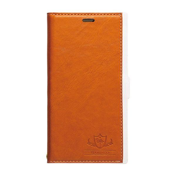 【iPhone XS/Xケース】FLAMINGO PUレザー手帳型ケース オレンジ iPhone XS/X_0