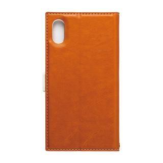 【iPhone XS/Xケース】FLAMINGO PUレザー手帳型ケース オレンジ iPhone XS/X_1
