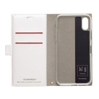 【iPhone XS/Xケース】FLAMINGO PUレザー手帳型ケース オレンジ iPhone XS/X_2