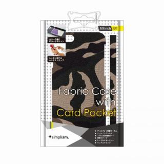 カードポケットファブリックケース カモフラージュ iPhone 6 Plusケース