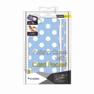 【iPhone6 Plusケース】カードポケットファブリックケース ホワイトドット iPhone 6 Plusケース