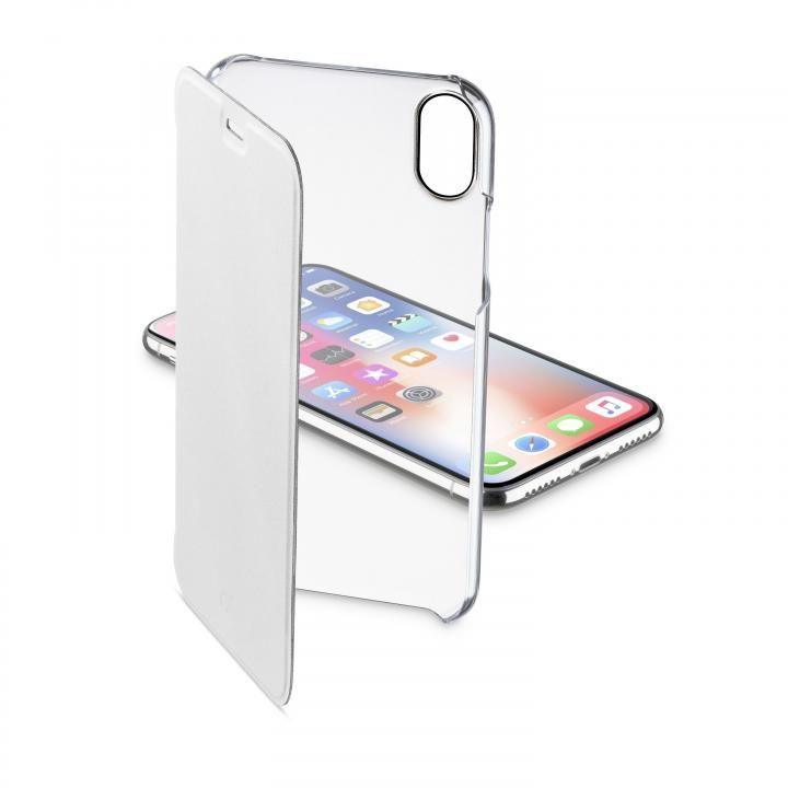 iPhone XS/X ケース 背面クリア手帳型ケース Clearbook ホワイト iPhone XS/X_0