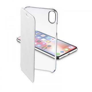 背面クリア手帳型ケース Clearbook ホワイト iPhone XS/X【9月下旬】