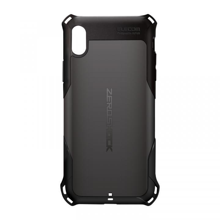 iPhone XS Max ケース ZEROSHOCK 耐衝撃吸収ケース スタンダード ブラック iPhone XS Max_0