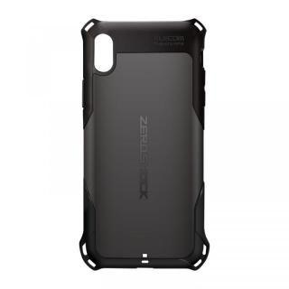 iPhone XS Max ケース ZEROSHOCK 耐衝撃吸収ケース スタンダード ブラック iPhone XS Max
