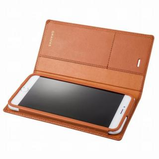【10月下旬】GRAMAS フルレザー手帳型ケース タン iPhone 6 Plus