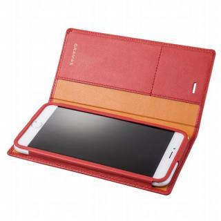 GRAMAS フルレザー手帳型ケース レッド iPhone 6s Plus/6 Plus