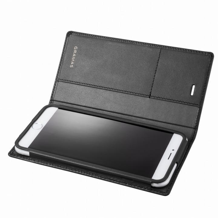 GRAMAS フルレザー手帳型ケース ブラック iPhone 6s Plus/6 Plus