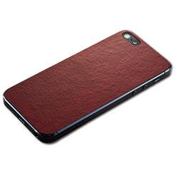 iPhone SE/5s用 テクスチャー背面シート(レザーレッド)